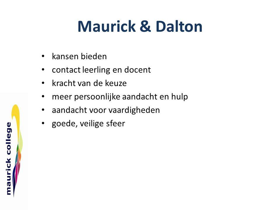 Maurick & Dalton kansen bieden contact leerling en docent