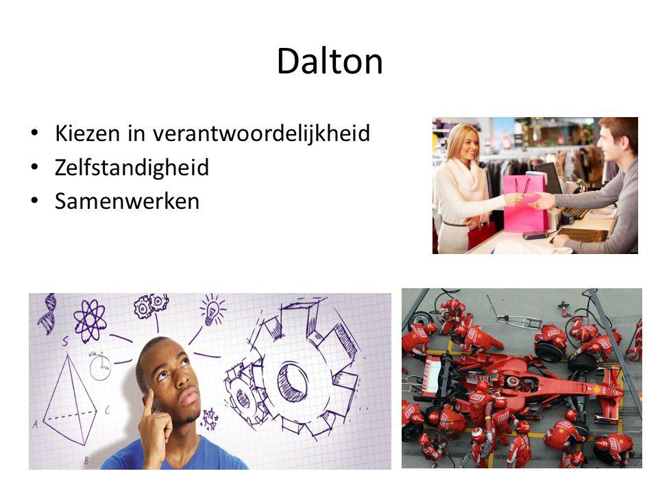 Dalton Kiezen in verantwoordelijkheid Zelfstandigheid Samenwerken