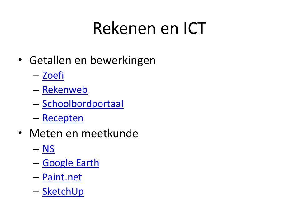 Rekenen en ICT Getallen en bewerkingen Meten en meetkunde Zoefi