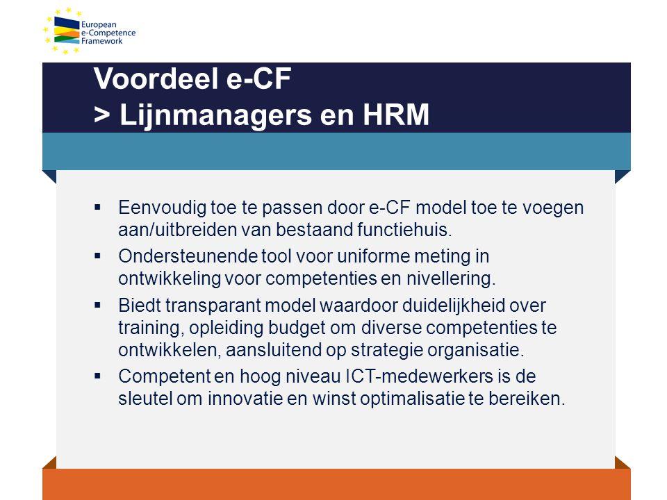 Voordeel e-CF > Lijnmanagers en HRM
