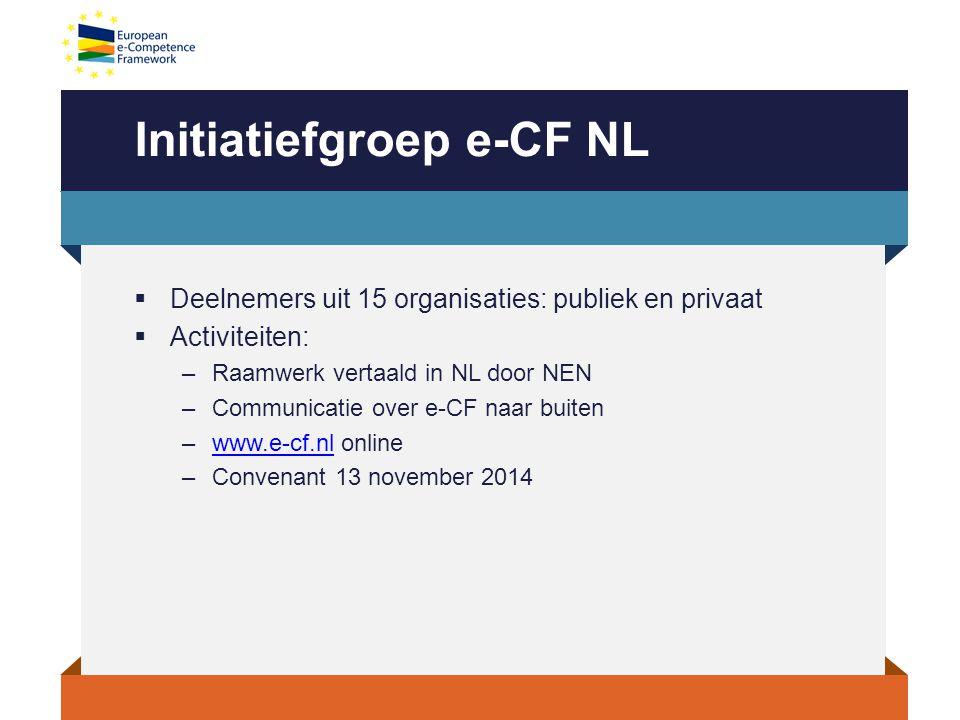 Initiatiefgroep e-CF NL