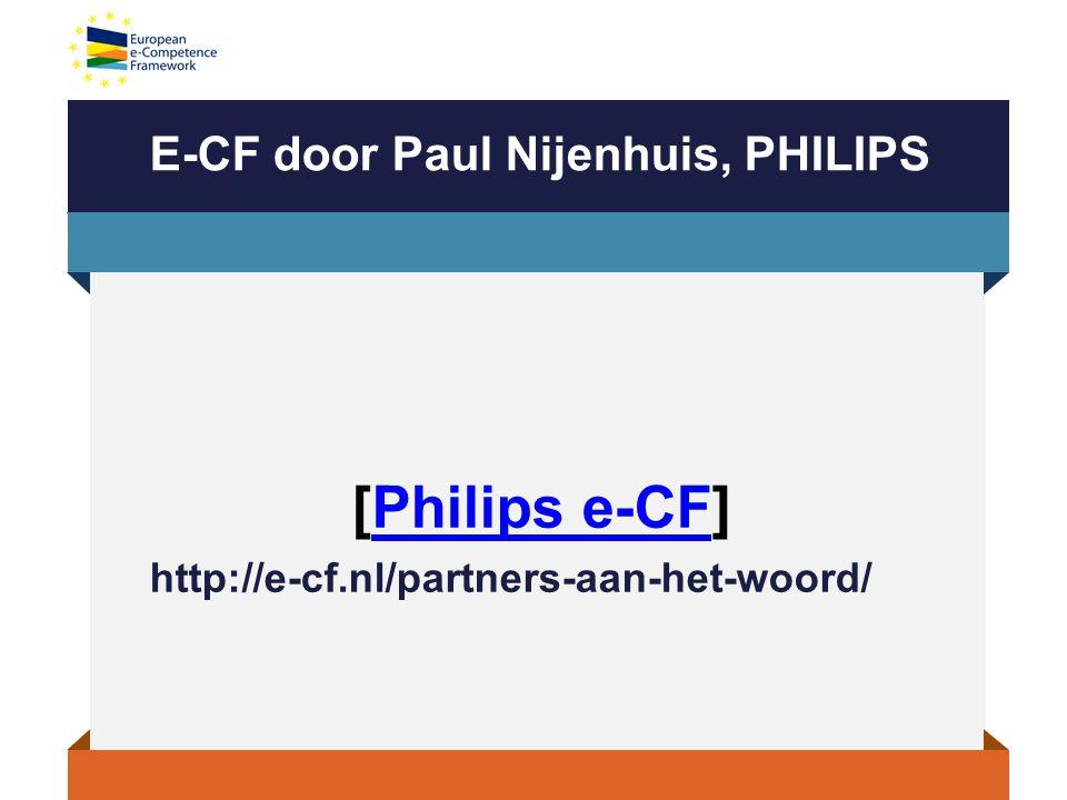 E-CF door Paul Nijenhuis, PHILIPS