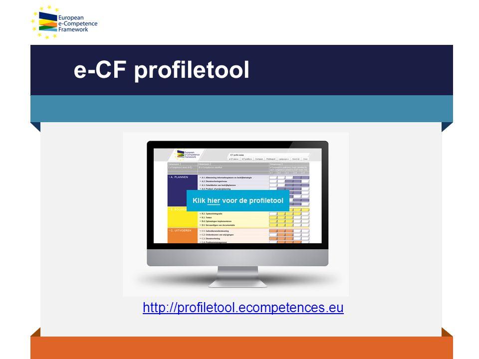 e-CF profiletool http://profiletool.ecompetences.eu
