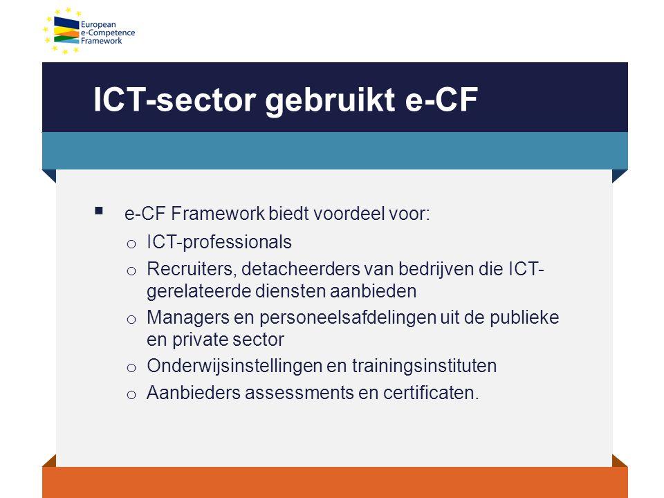 ICT-sector gebruikt e-CF