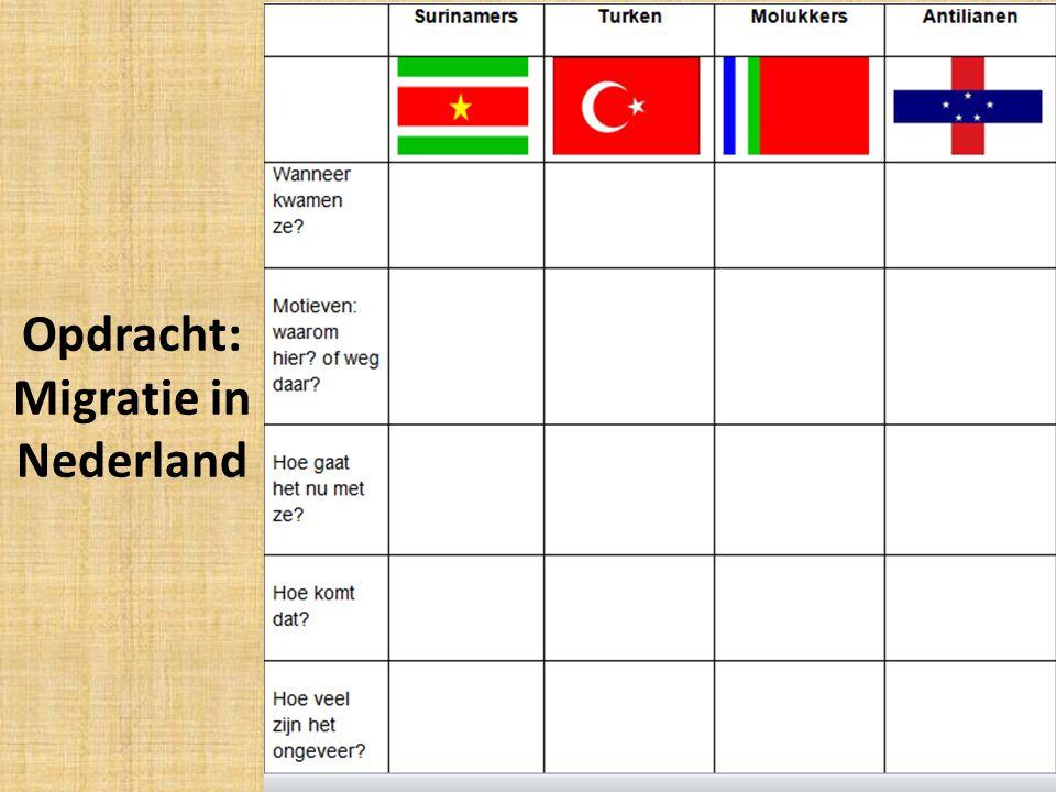 Opdracht: Migratie in Nederland