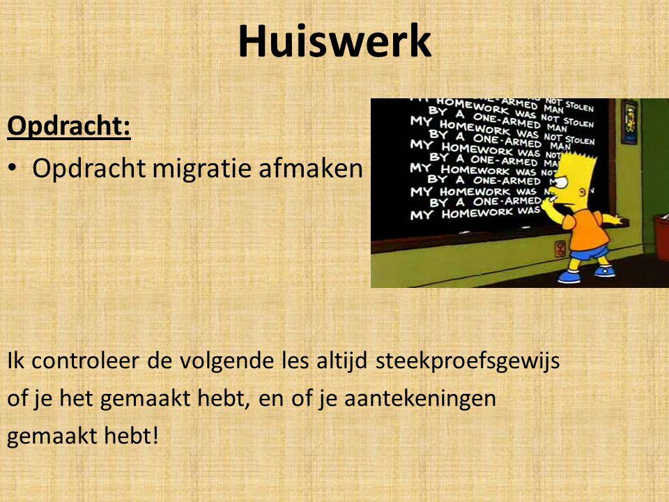 Huiswerk Opdracht: Opdracht migratie afmaken