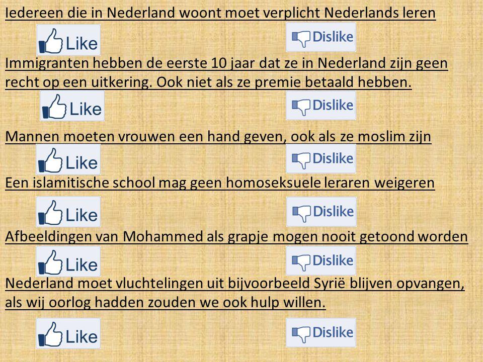 Iedereen die in Nederland woont moet verplicht Nederlands leren