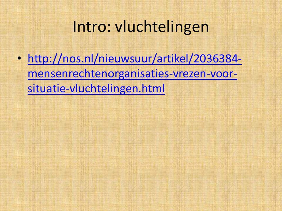 Intro: vluchtelingen http://nos.nl/nieuwsuur/artikel/2036384-mensenrechtenorganisaties-vrezen-voor-situatie-vluchtelingen.html.