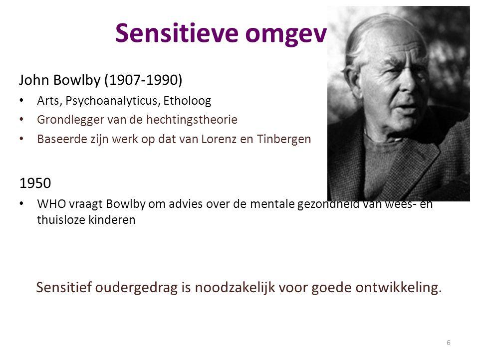 Sensitief oudergedrag is noodzakelijk voor goede ontwikkeling.