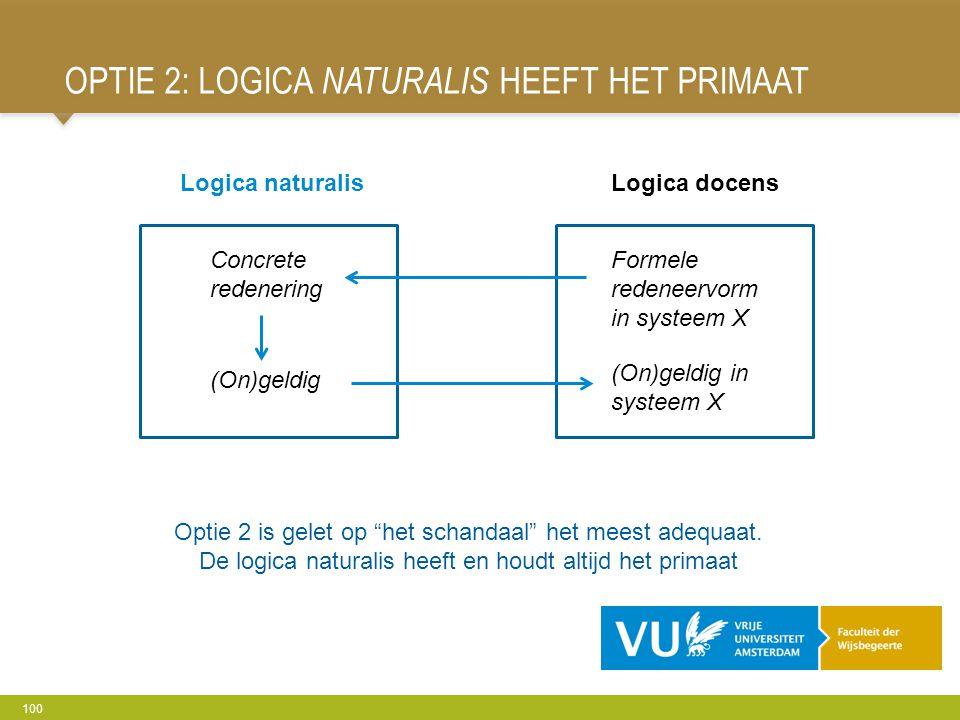 Optie 2: Logica naturalis heeft het primaat