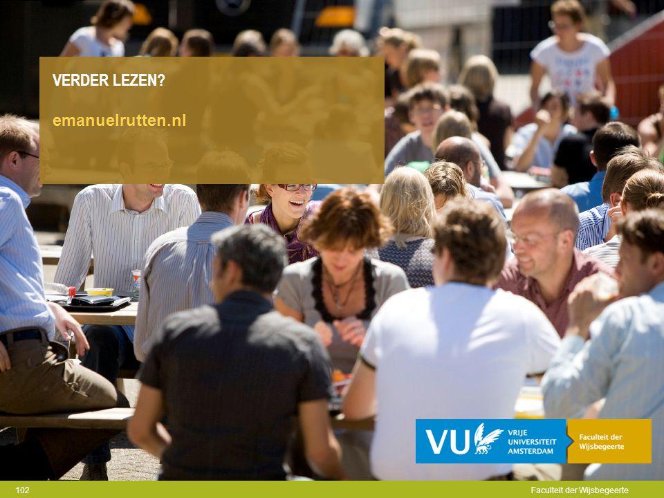 Verder Lezen emanuelrutten.nl Faculteit der Wijsbegeerte