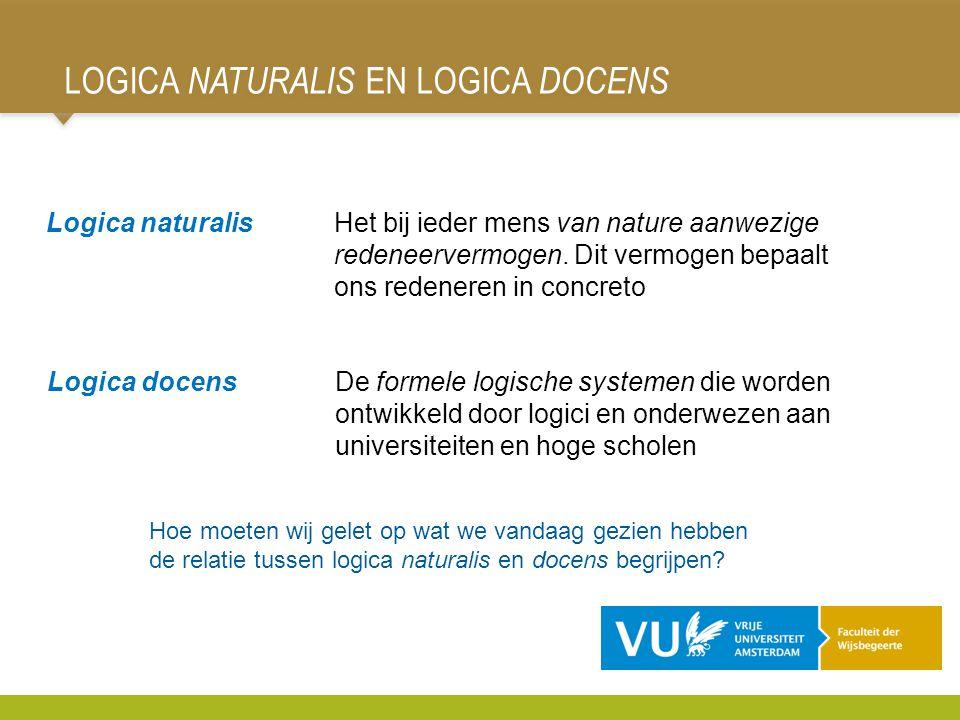 Logica naturalis en Logica Docens