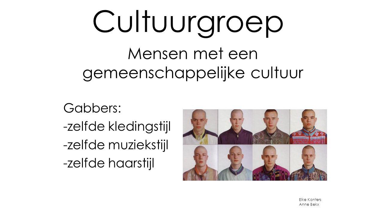 Mensen met een gemeenschappelijke cultuur