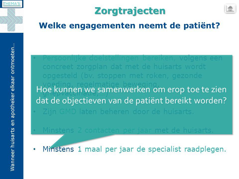 Welke engagementen neemt de patiënt