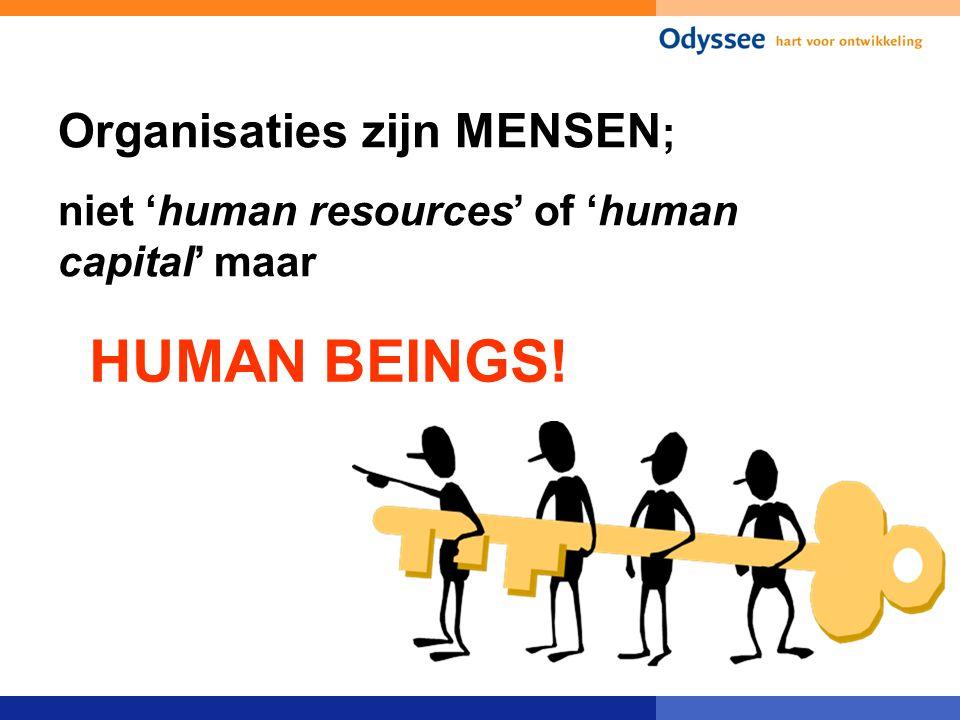 HUMAN BEINGS! Organisaties zijn MENSEN;