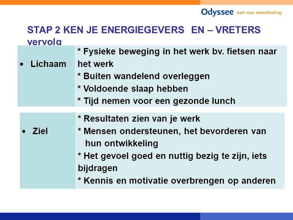STAP 2 KEN JE ENERGIEGEVERS EN – VRETERS vervolg
