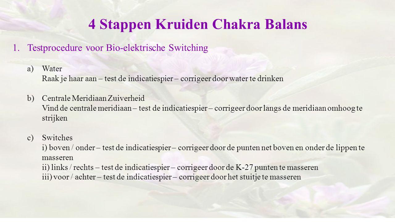 4 Stappen Kruiden Chakra Balans