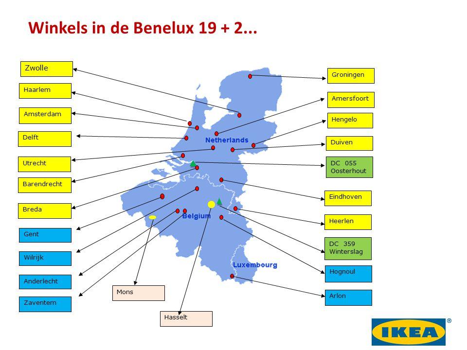 Winkels in de Benelux 19 + 2... 22 Zwolle Groningen Haarlem Amersfoort