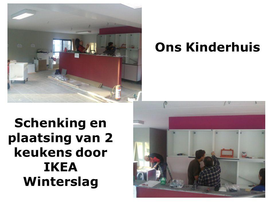 Schenking en plaatsing van 2 keukens door IKEA Winterslag