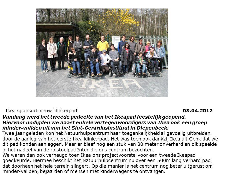 Ikea sponsort nieuw klinkerpad 03.04.2012