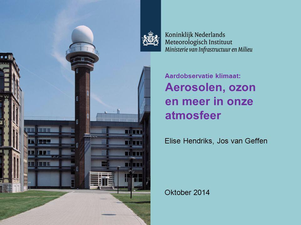 Aerosolen, ozon en meer in onze atmosfeer