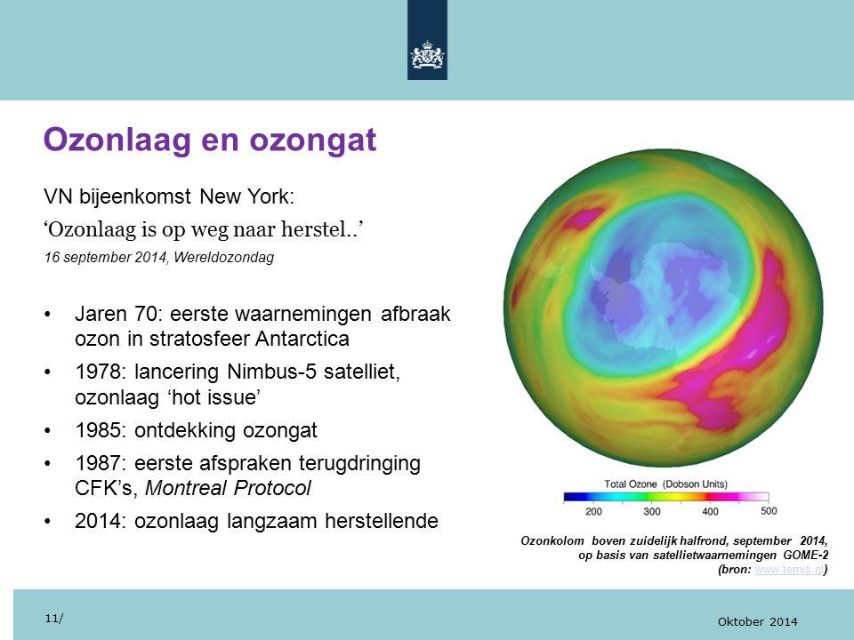 Ozonlaag en ozongat VN bijeenkomst New York:
