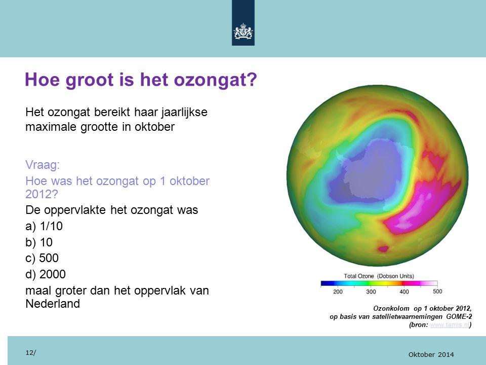 Hoe groot is het ozongat