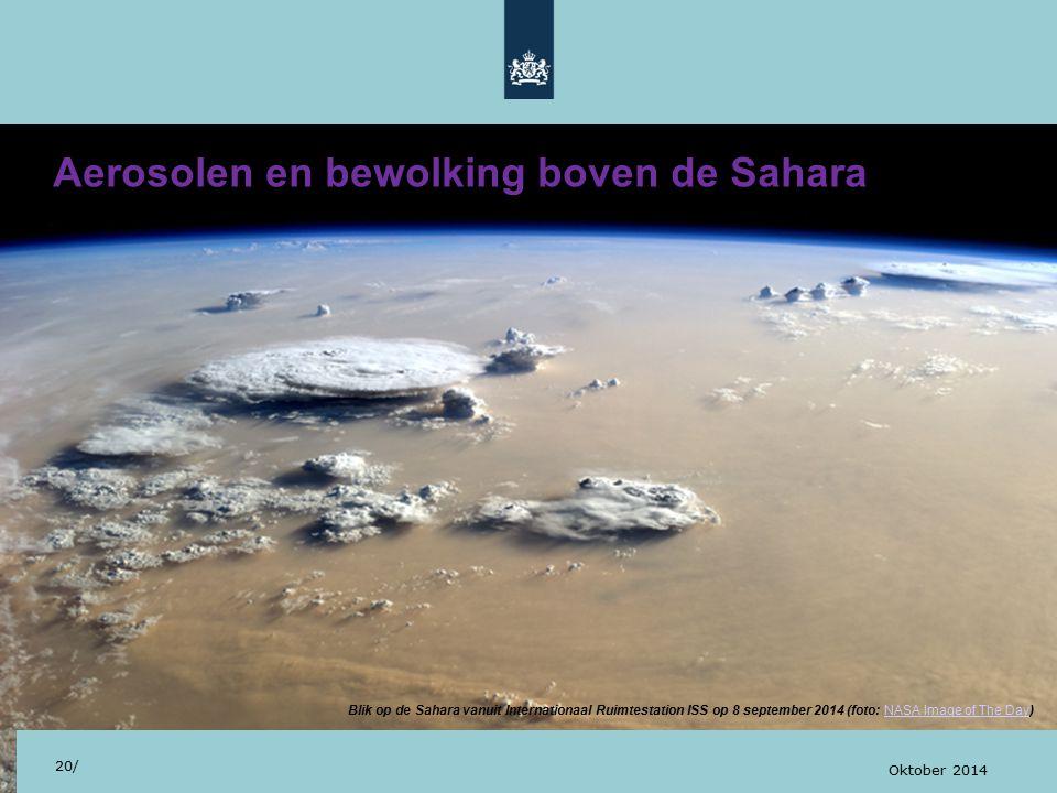 Aerosolen en bewolking boven de Sahara