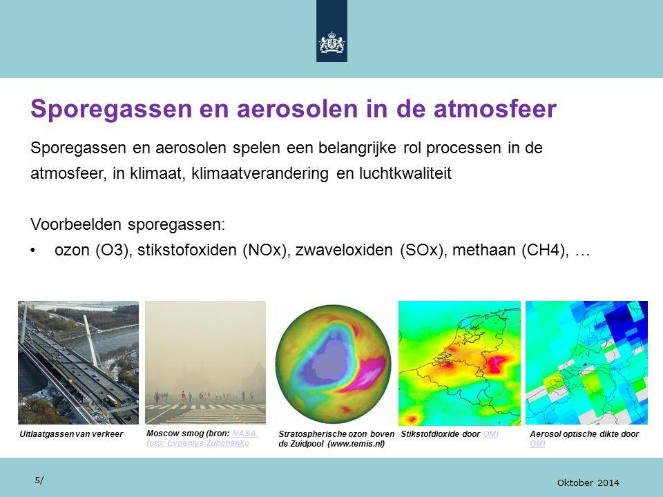 Sporegassen en aerosolen in de atmosfeer