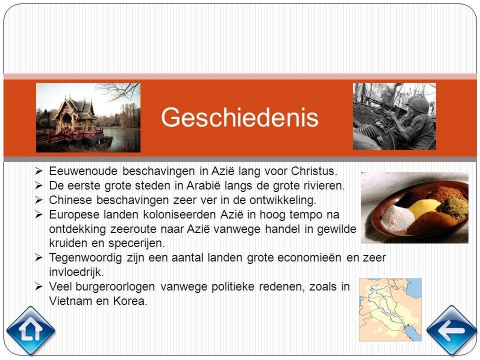 Geschiedenis Eeuwenoude beschavingen in Azië lang voor Christus.