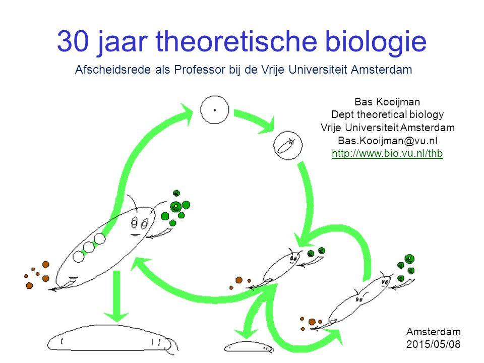30 jaar theoretische biologie