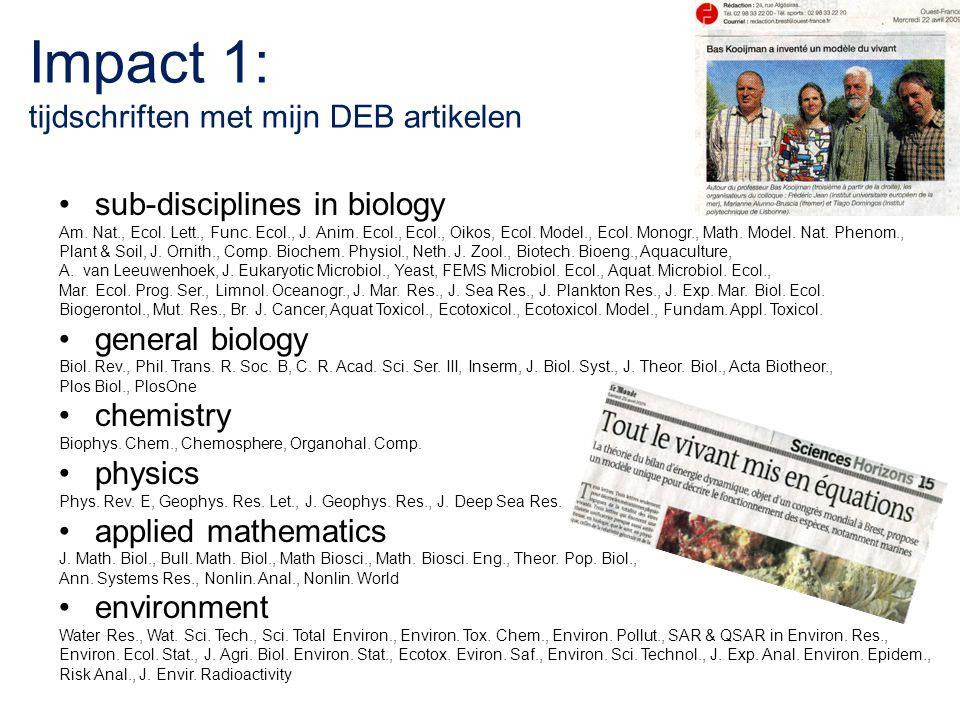 Impact 1: tijdschriften met mijn DEB artikelen