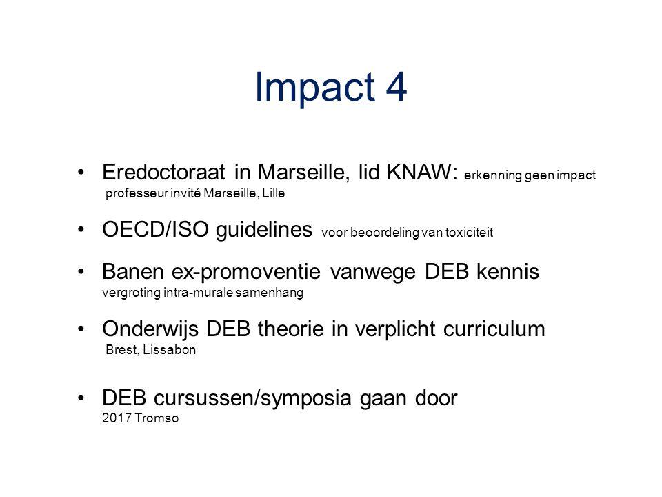 Impact 4 Eredoctoraat in Marseille, lid KNAW: erkenning geen impact
