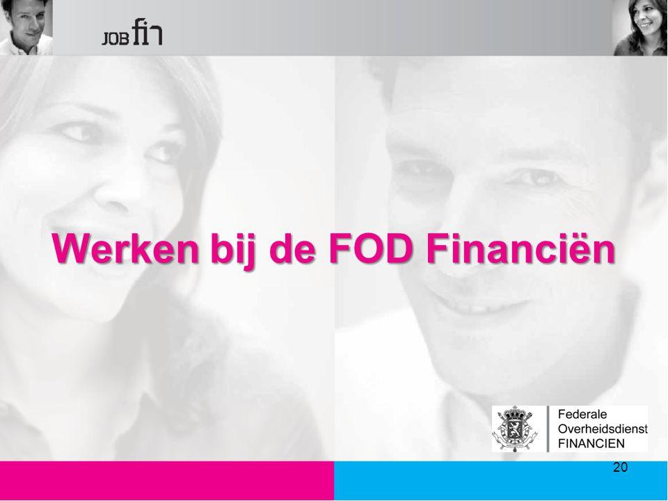 Werken bij de FOD Financiën