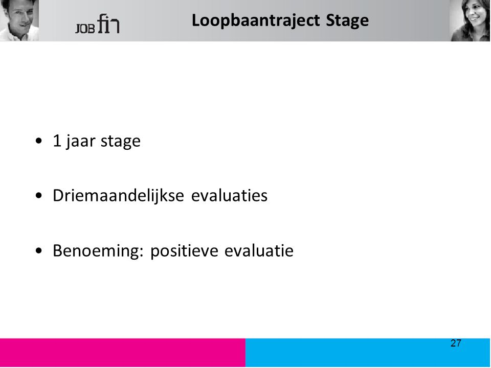 Loopbaantraject Stage