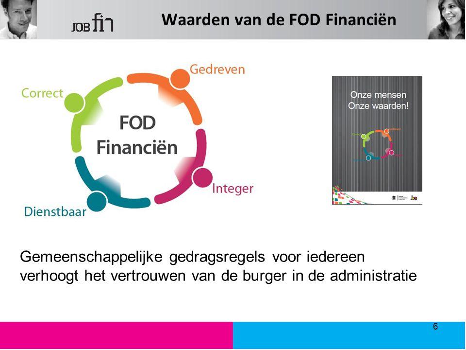Waarden van de FOD Financiën