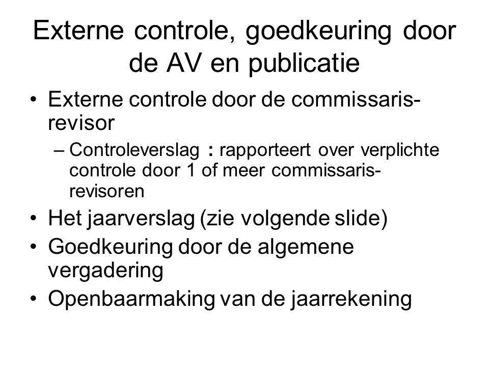 Externe controle, goedkeuring door de AV en publicatie