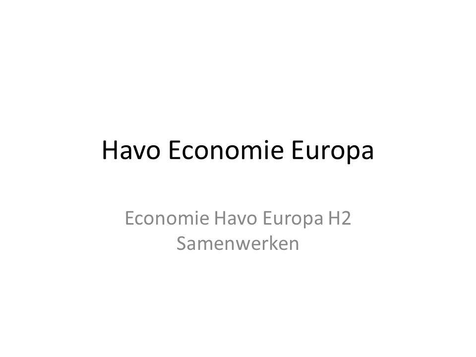 Economie Havo Europa H2 Samenwerken