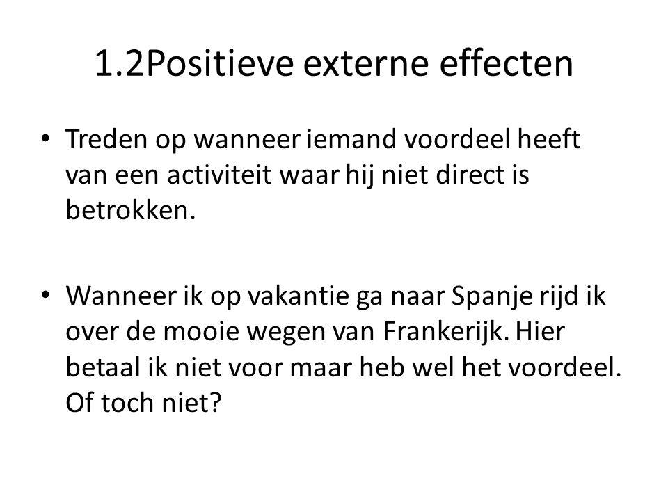 1.2Positieve externe effecten