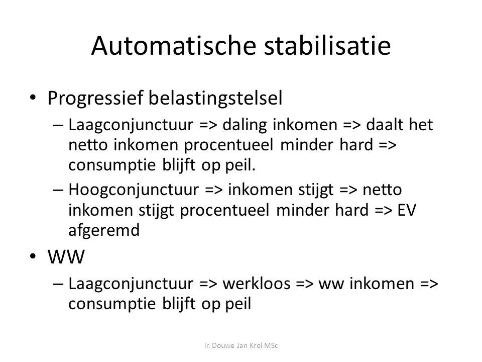 Automatische stabilisatie
