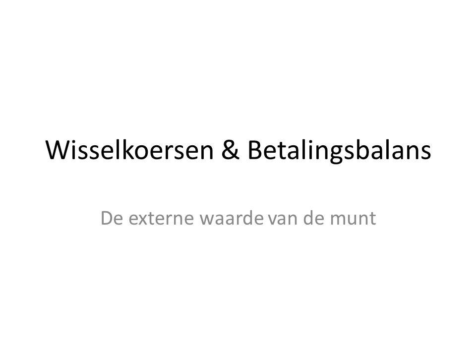 Wisselkoersen & Betalingsbalans