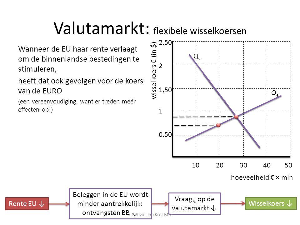 Valutamarkt: flexibele wisselkoersen
