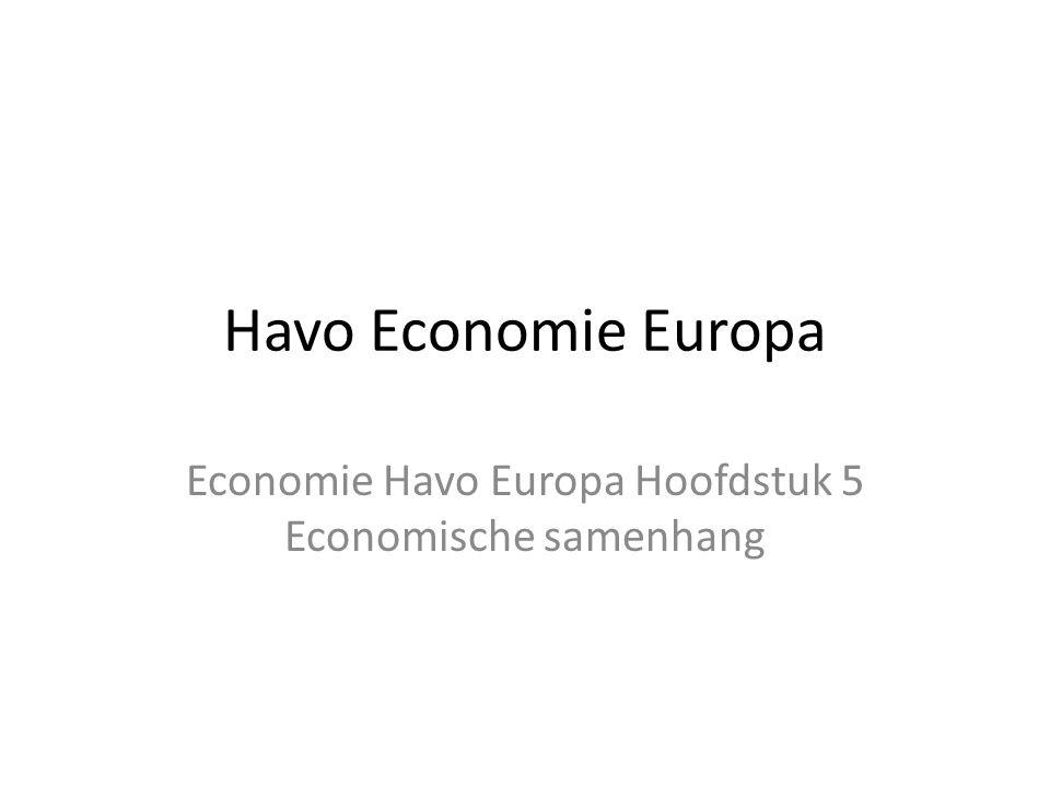 Economie Havo Europa Hoofdstuk 5 Economische samenhang