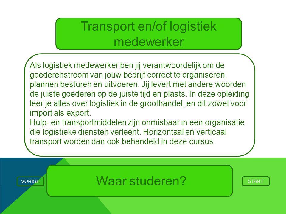 Transport en/of logistiek medewerker