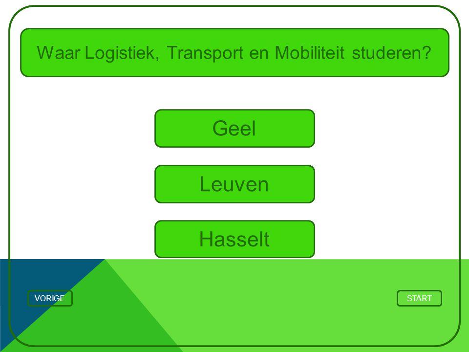 Waar Logistiek, Transport en Mobiliteit studeren