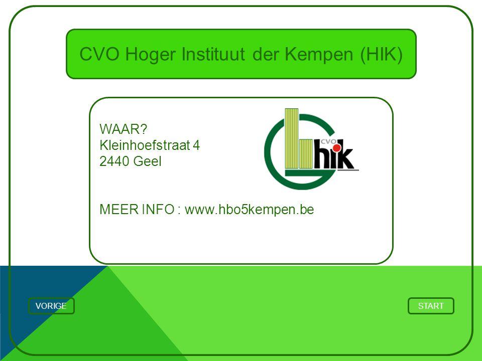 CVO Hoger Instituut der Kempen (HIK)