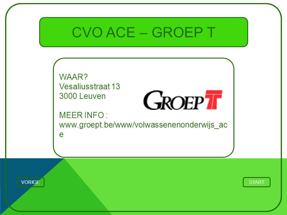 CVO ACE – GROEP T WAAR Vesaliusstraat 13 3000 Leuven