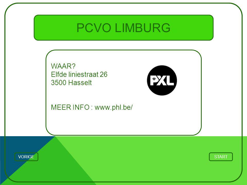 PCVO LIMBURG WAAR Elfde liniestraat 26 3500 Hasselt