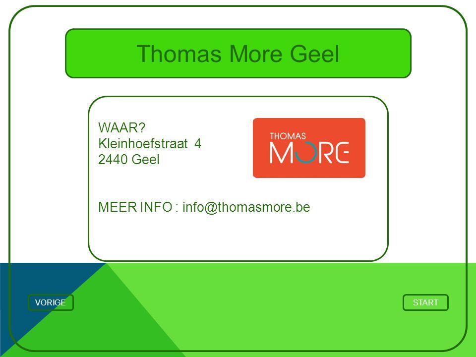 Thomas More Geel WAAR Kleinhoefstraat 4 2440 Geel