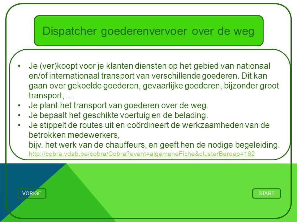 Dispatcher goederenvervoer over de weg